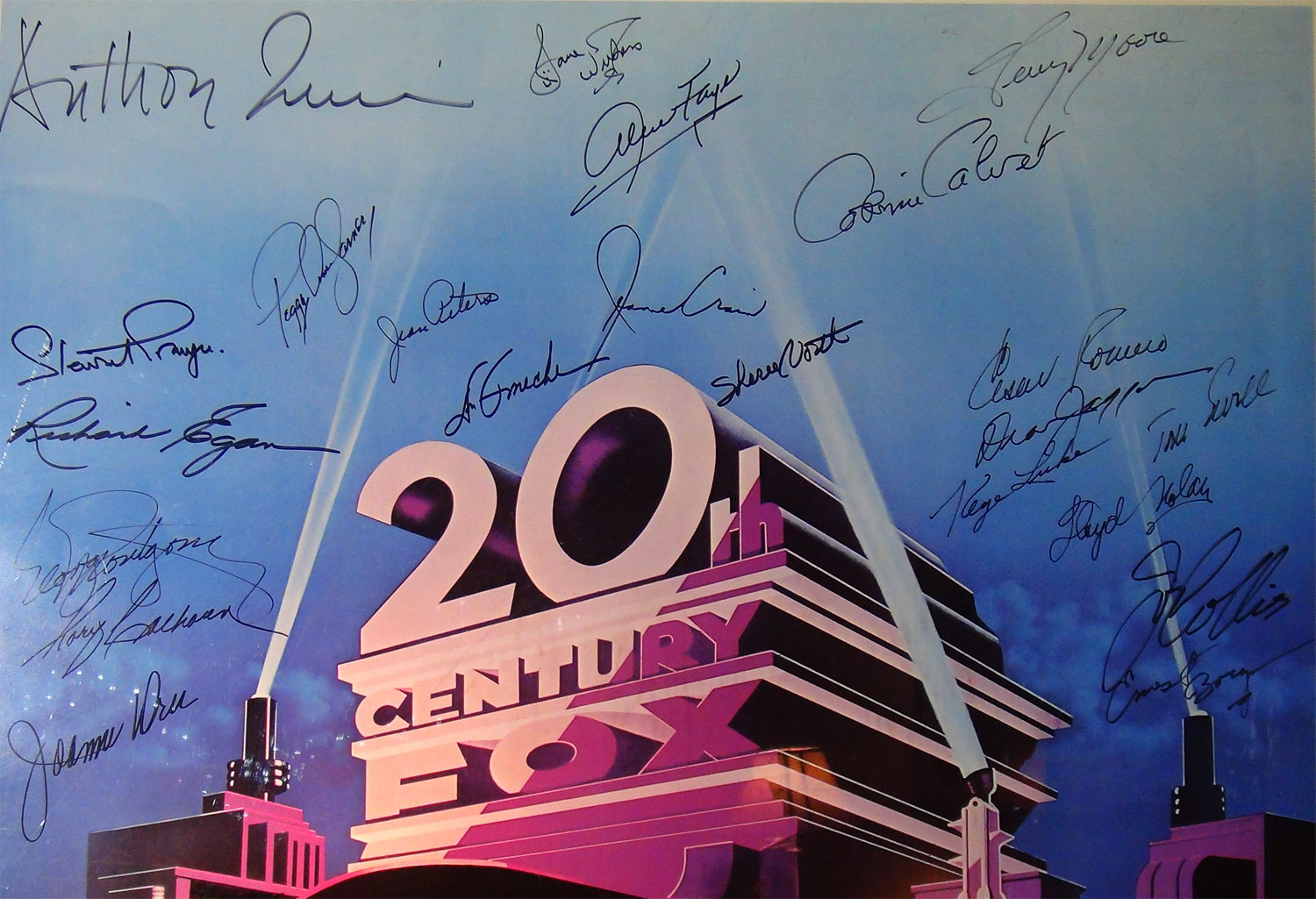 The Stars of 20th Century Fox Pictures, Autographed Poster